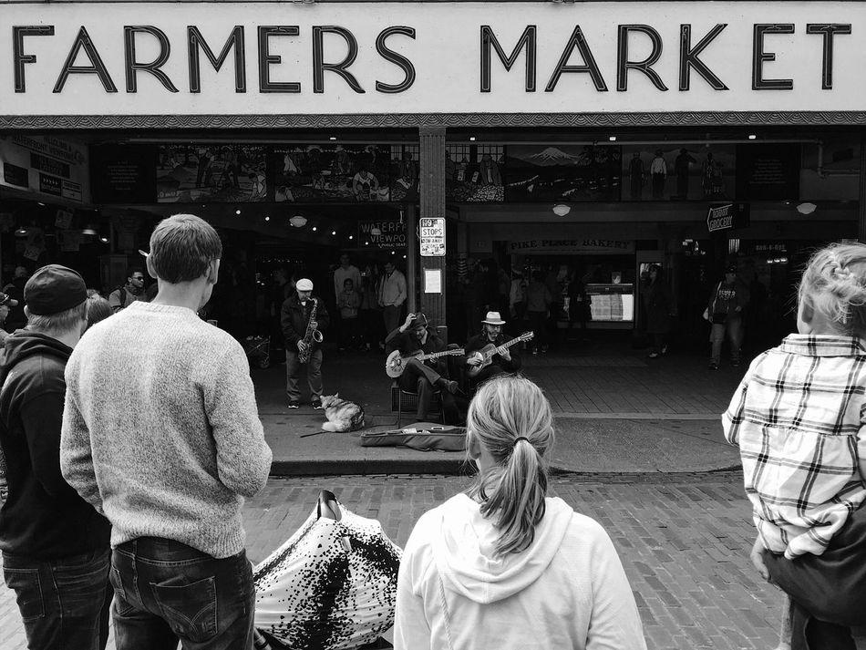 market entertainment. Pike Place Market Seattle