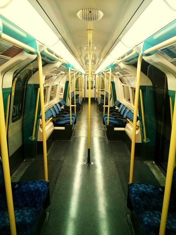 Inside The Train Midnight Train Empty Train No People Alone... Very Rare Peace And Quiet