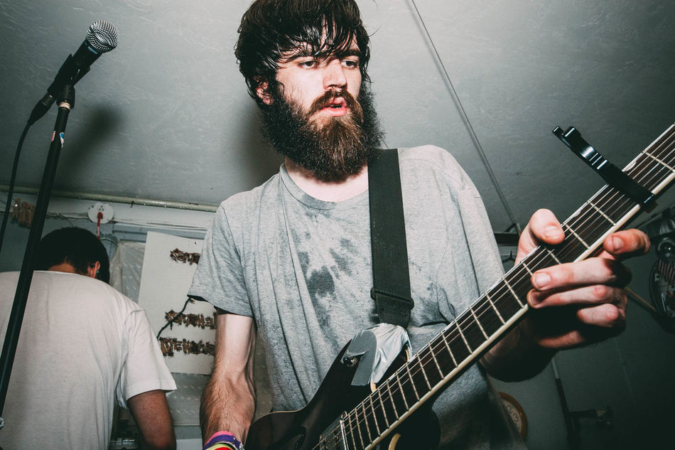 Musical Instrument Music Guitar Guitarist Musician Playing Electric Guitar Arts Culture And Entertainment Plucking An Instrument Only Men Adult Performance Adults Only Men Rock Musician Two People Rock Music Indoors  People Beard Photographerinlasvegas Evanscsmith Thedropouteugene Real People Youth Culture