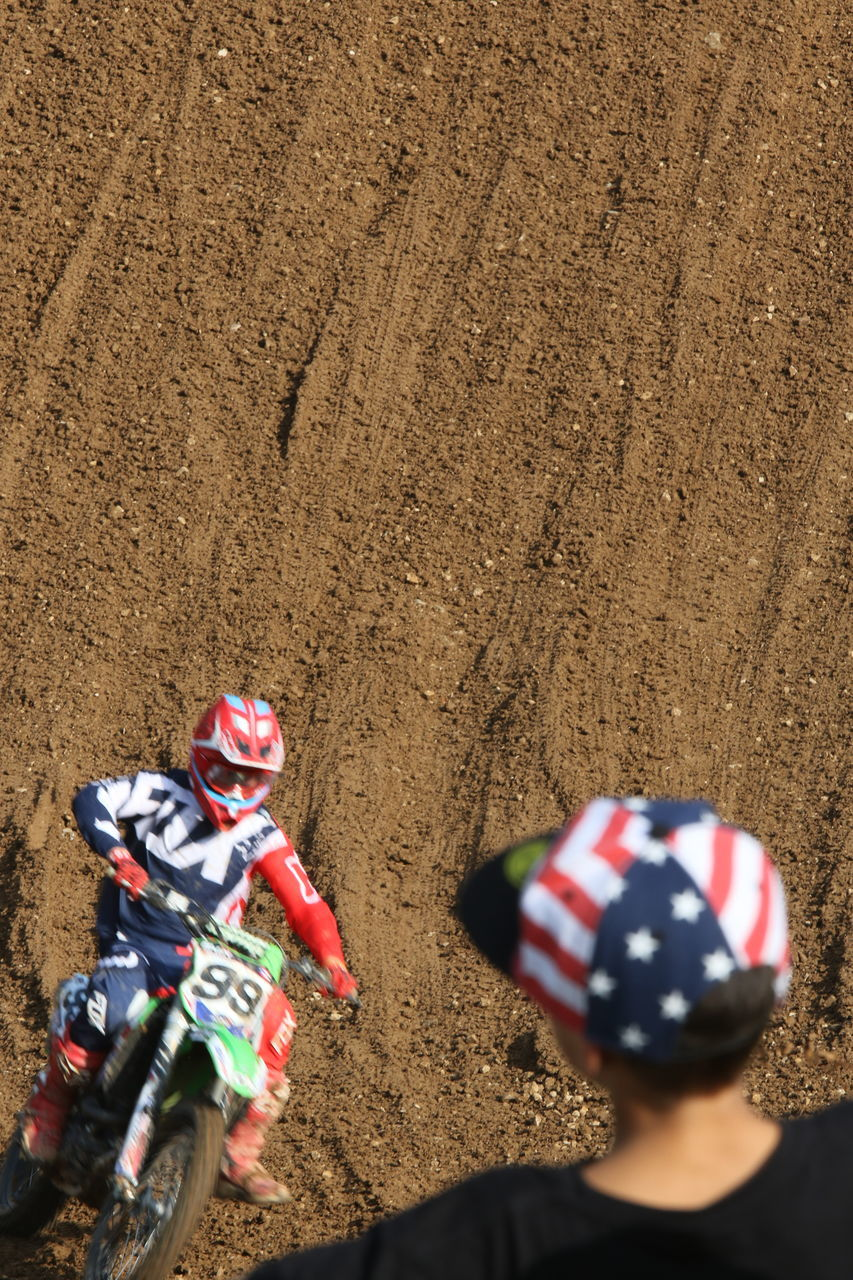 sand, real people, motorcycle, competition, men, outdoors, day, motocross, sports race, people