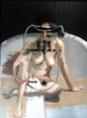 female nude in tub by Paul Toussaint
