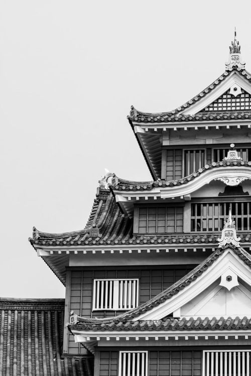 """Okayama """"Crow"""" Castle, built in 1966. lol. The Americans destroyed the original one in 1945. Japan Culture Castle Monochrome Blackandwhite Architecture"""