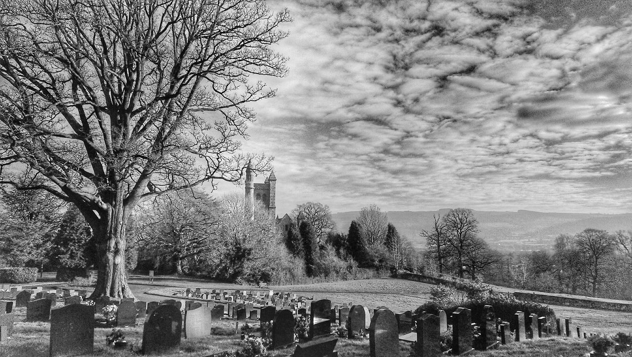 For The Love Of Trees ~ For The Love Of Black And White Churchporn Skyporn Sky And Clouds Enjoying The View TreePorn Powys Welshpool In A Country Churchyard Wales❤ Beautiful Wales Mid Wales Landscapes With WhiteWall