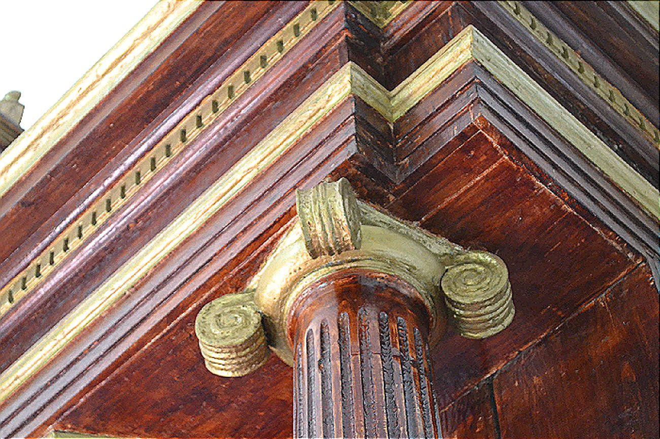 Capitel Column Capitals Wood Church