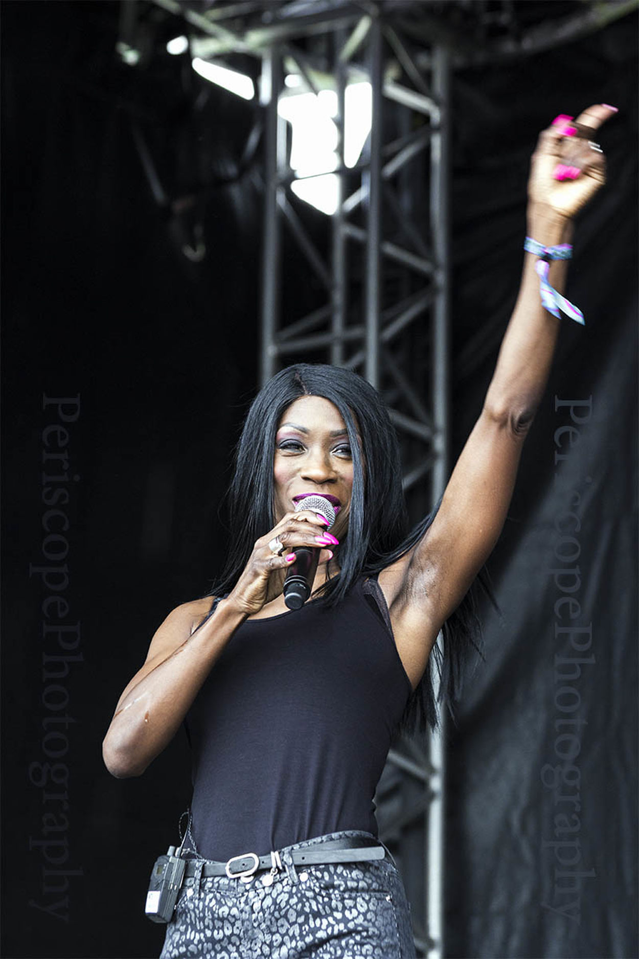 Heather Small of M People fame performs at a free concert in south shields, UK. Artist Black Concert Female Gig Heather Small M People Performer  Singer