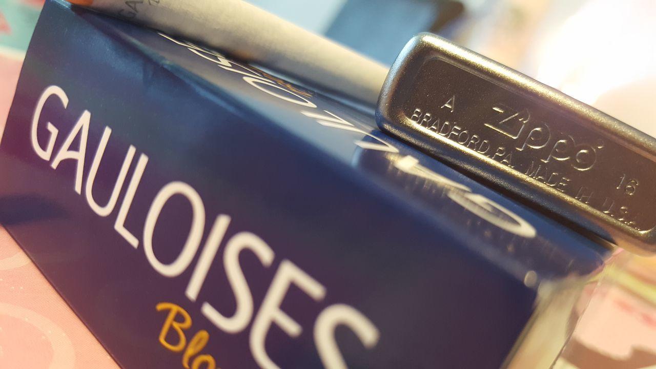 First Eyeem Photo Liberty Zippo Lighter Zippocollection Gauloises Cigarettes 👌💕 Cigarette Break