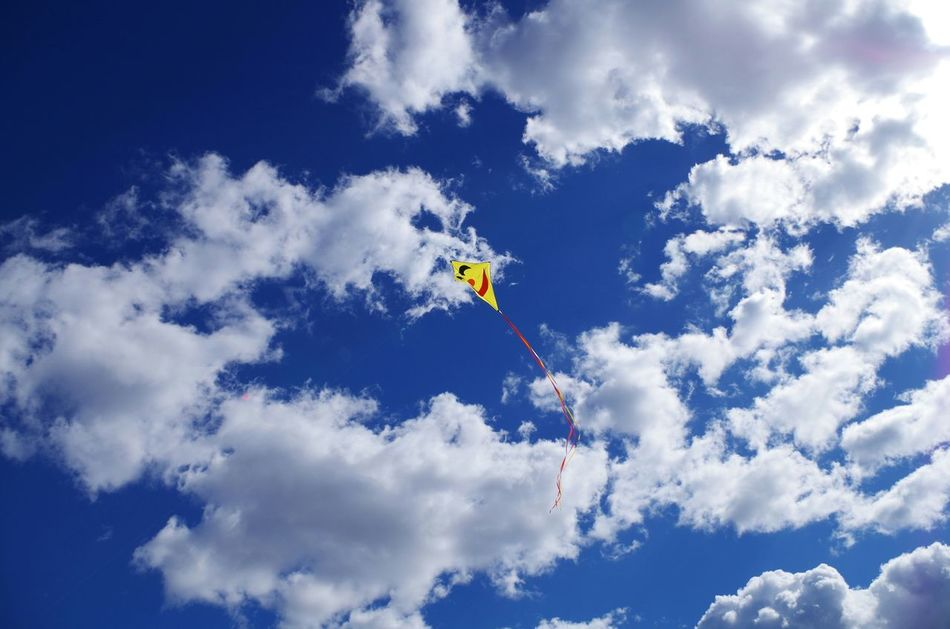 Beautiful stock photos of cloud, Cloud, Day, Flying, Kite