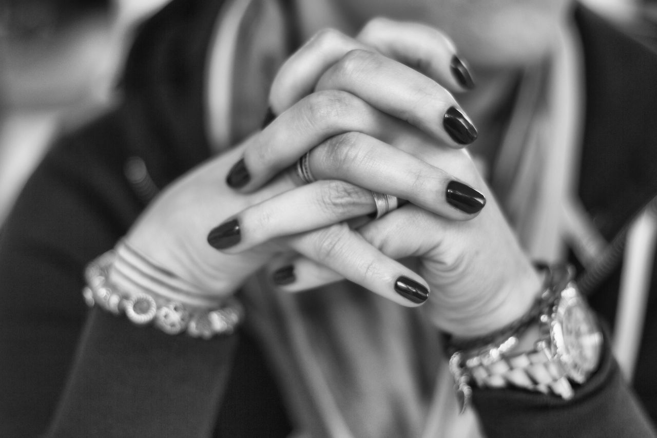 human hand, ring, women, real people, focus on foreground, finger ring, togetherness, close-up, human body part, nail polish, indoors, day, bride, adult, adults only, people