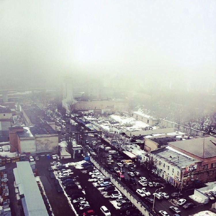 Вид на город с 13ого этажа риверсайд дон)