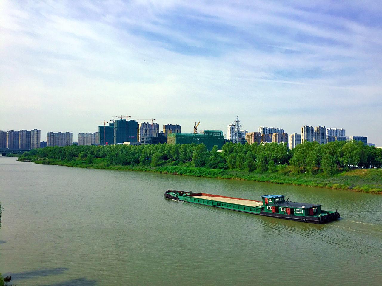 Boat City Qinhuai River River Sky