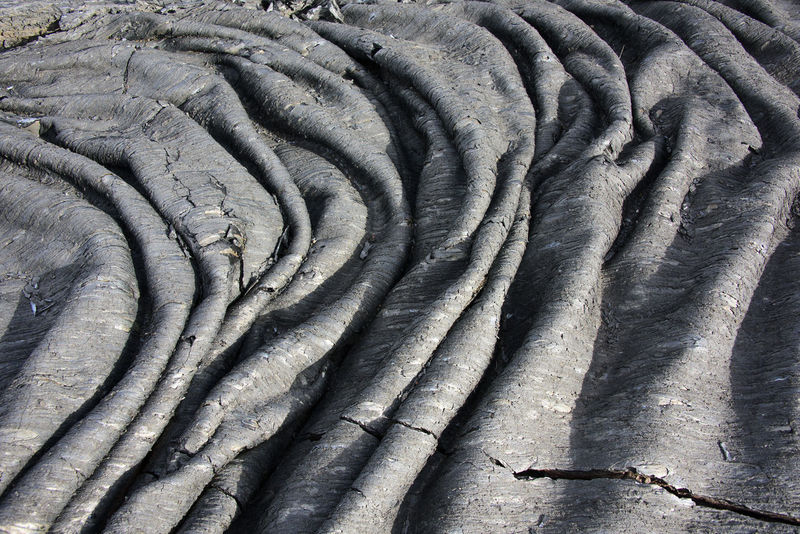 Waves of the clinker (frozen lava) Close-up Far East Kamchatka Landscape Lava Russia Textured