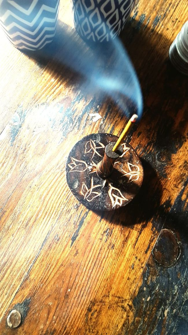 Smoke Relaxing Enjoying Life Life Incense Herbs Small Fire Washing Time Home