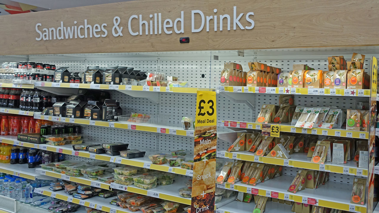 Chilled Drinks Choice Close-up Communication Day Food For Sale Indoors  Large Group Of Objects No People Price Tag Retail  Sandwiches For Sale Shelf Snacks For Sale Store Supermarket Text Uk Supermarket Variation