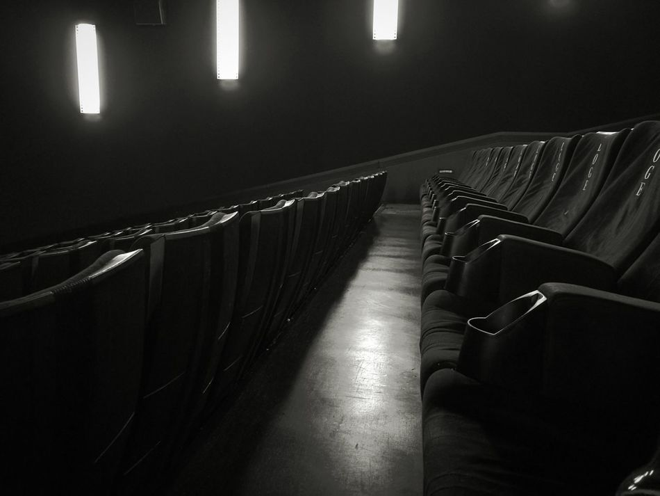 Indoors  No People Illuminated Auditorium Cinema Seating Cinema Seats Waiting For The Movie Kinosessel Kinosaal Kino Blackandwhite Black And White Black & White White Black Cinema Indoors