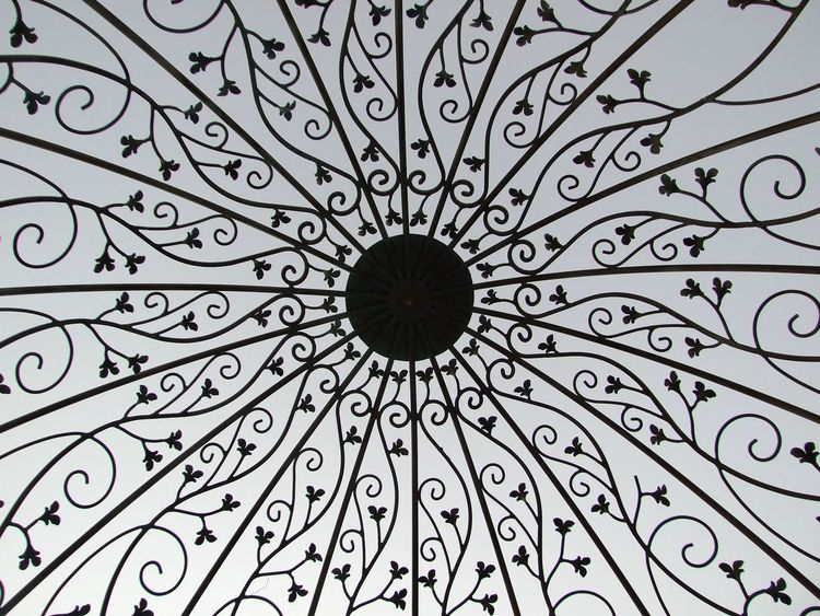 Architecture Backgrounds Circle Close-up Day Decor Filigree Full Frame Gazebo Indoors  Low Angle View No People Pattern Wrought Iron Wrought Iron Design