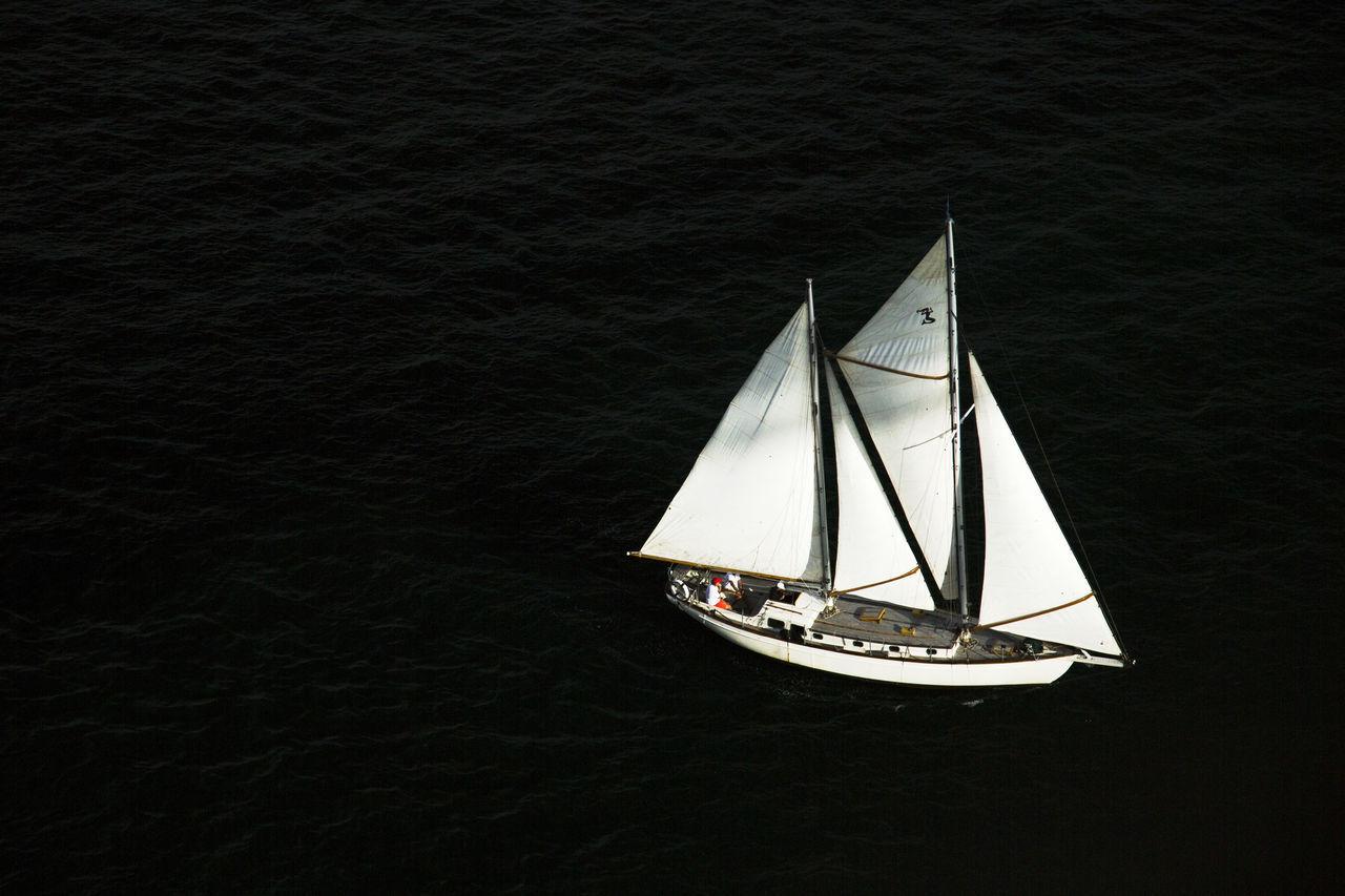 Above Black Minimal Ocean Sail Sailboat Sea Sydney