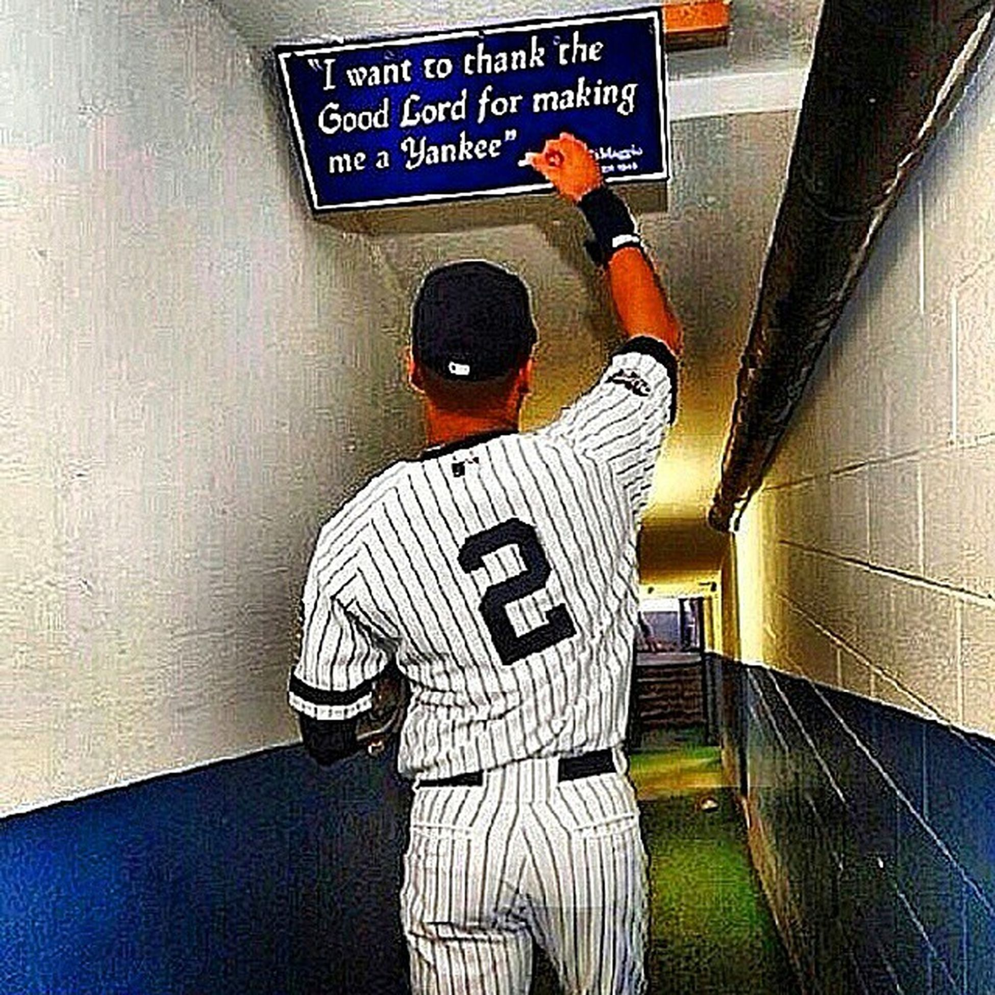 Tonight's DaCaptain 's Last Game Playing In NYC Je2er YankeeForLife ~ Thanks For Always Bringin' Your A-Game To Each & Every Time I Spent My Dollars To Witness You Hustle. YankeeStadium BX BronxBombers