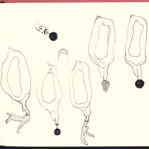 Drawing Sketch for Brooch Art