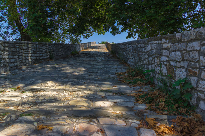 Architecture Bridge Day Footpath Nature No People Outdoors Sky Stone Material Stone Wall The Way Forward The Way Up