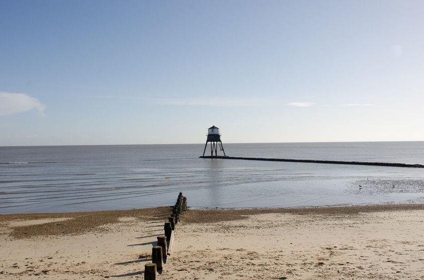 Architecture Clear Sky Essex Lighthouse Victorian Cast Iron Dovercourt Flat Landmark Old Sea Sky Warning