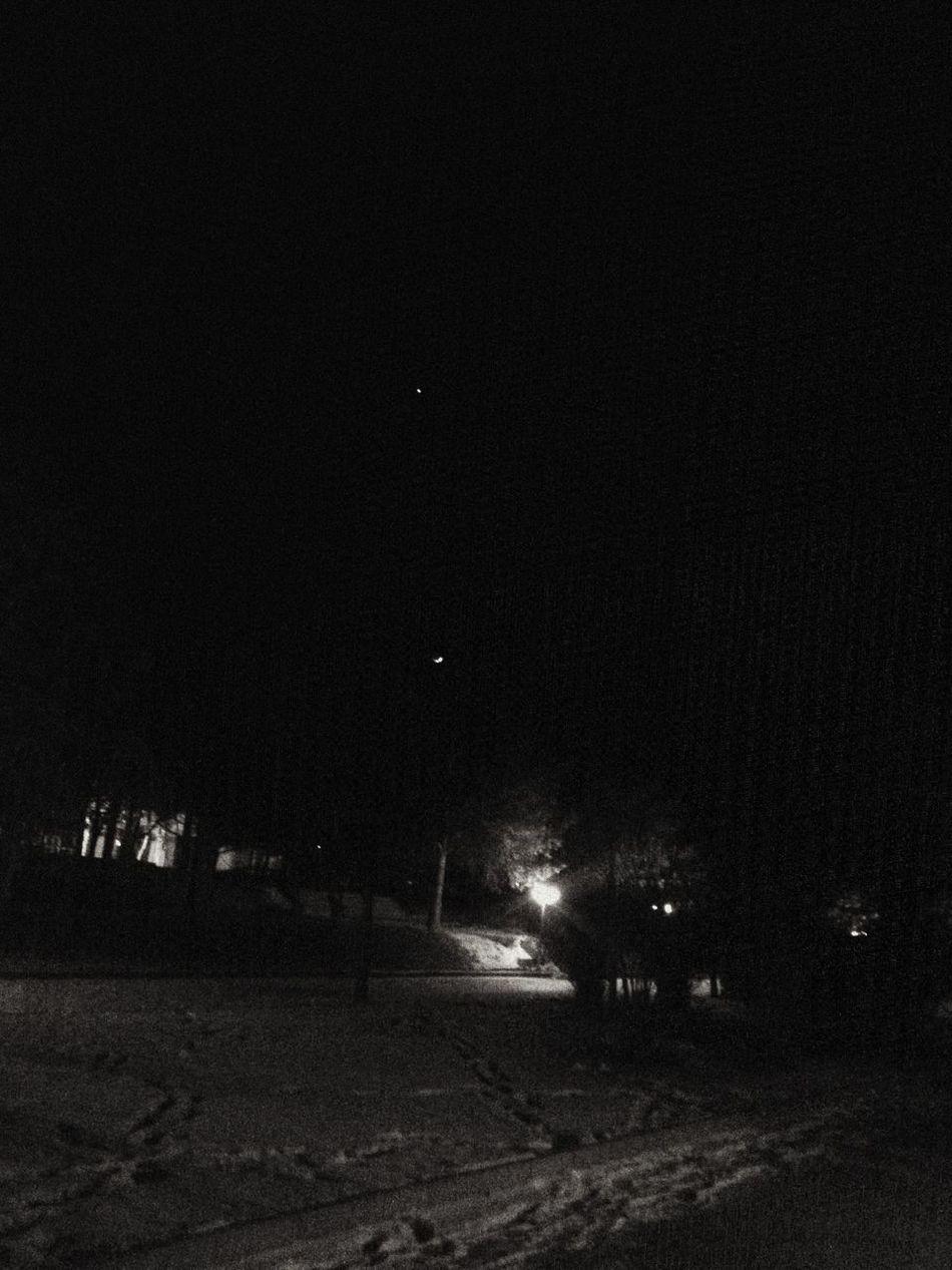 Moon Star Moonlight ❤ Malatya, Turkey İnönüÜniversitesi KampusLife Ninght Snow ❄ Winter Cold Days Cold Winter ❄⛄ Winter Trees Trees Lamps