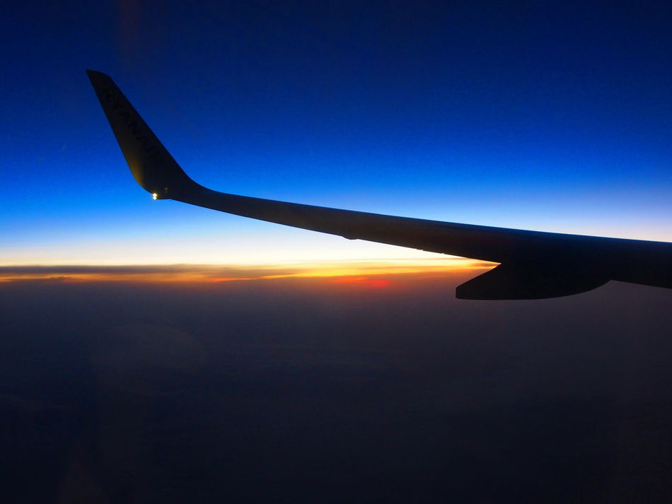Air Vehicle Aircraft Wing Airplane Airplane Wing Beauty In Nature Betweennightandday Clear Sky InTheSky Italia Italy Italy❤️ Journey Milan Milano Mode Of Transport Nature No People Outdoors Silhouette Sky SunIsUp Sunlight Sunrise Sunset Transportation