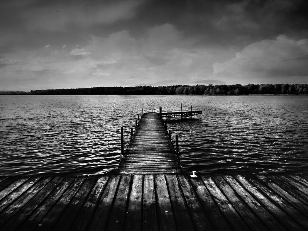 Beauty In Nature Black And White Blackandwhite Bridge Exceptional Photographs Eye4photography  EyeEm Gallery EyeEm Nature Lover From My Point Of View From Where I Stand Getting Inspired Lake Outdoors Paprocany Poland Scenics Tychy Water