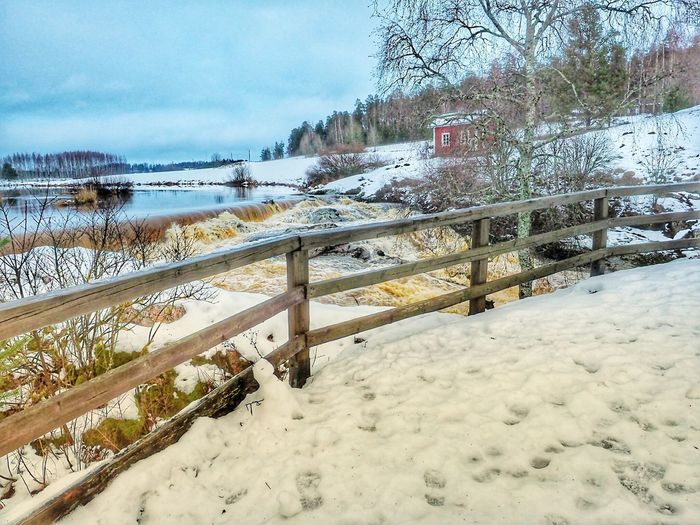 Nautelankoski, Finland River View Flowing Water Winter Wonderland Winter Landscape Nature Photography Wooden Fench Water Nature Sand Day Outdoors No People Beauty In Nature Cold Temperature Sky