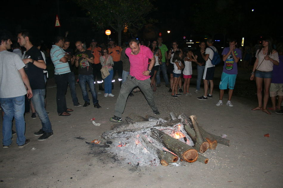 Festivity Jump Adult Audience Bonfire Jump Bonfire Night Crowd Illuminated Large Group Of People Night Outdoors People Real People Saint John Saint John Festivity Saint John's Feast Women
