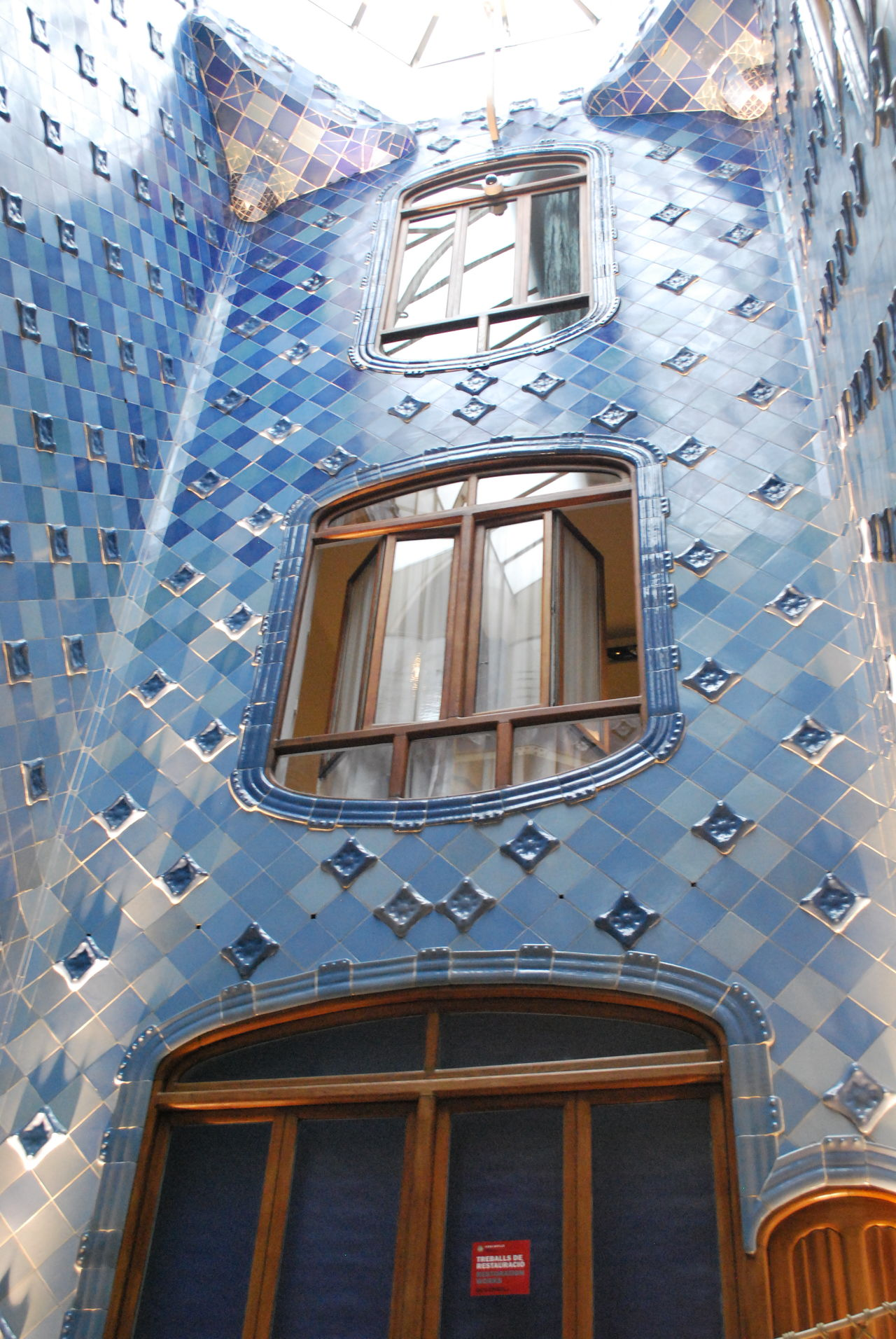 Architecture Barcelona Barcelona, Spain Blue Building Exterior Built Structure Casa Batllo Casa Batllo. Gaudi Catalonia Catalunya Day Gaudi Inside Low Angle View No People Outdoors SPAIN Window