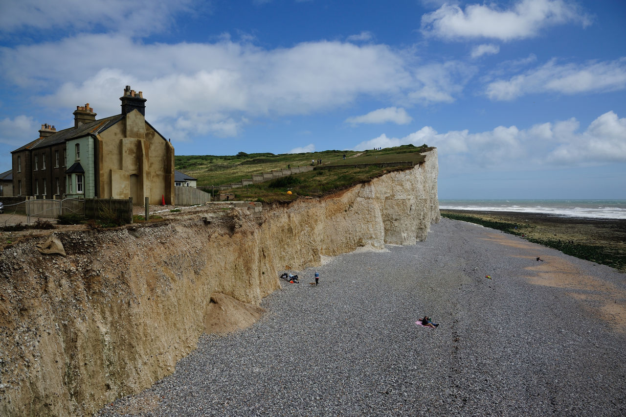 Sky Architecture Old Ruin History Cloud - Sky Ruined Built Structure Building Exterior Outdoors Travel Destinations Scenics Landscape Day No People Beach Nature Birling Gap England, UK Seven Sisters