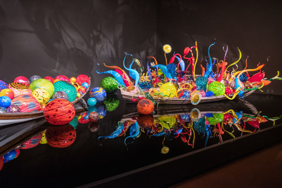 Blown Glass Blown Glass Chandelier Chihuly Chihuly Garden And Glass Close-up Day Dessert Food Indoors  Low Angle View Multi Colored No People Sweet Food Variation