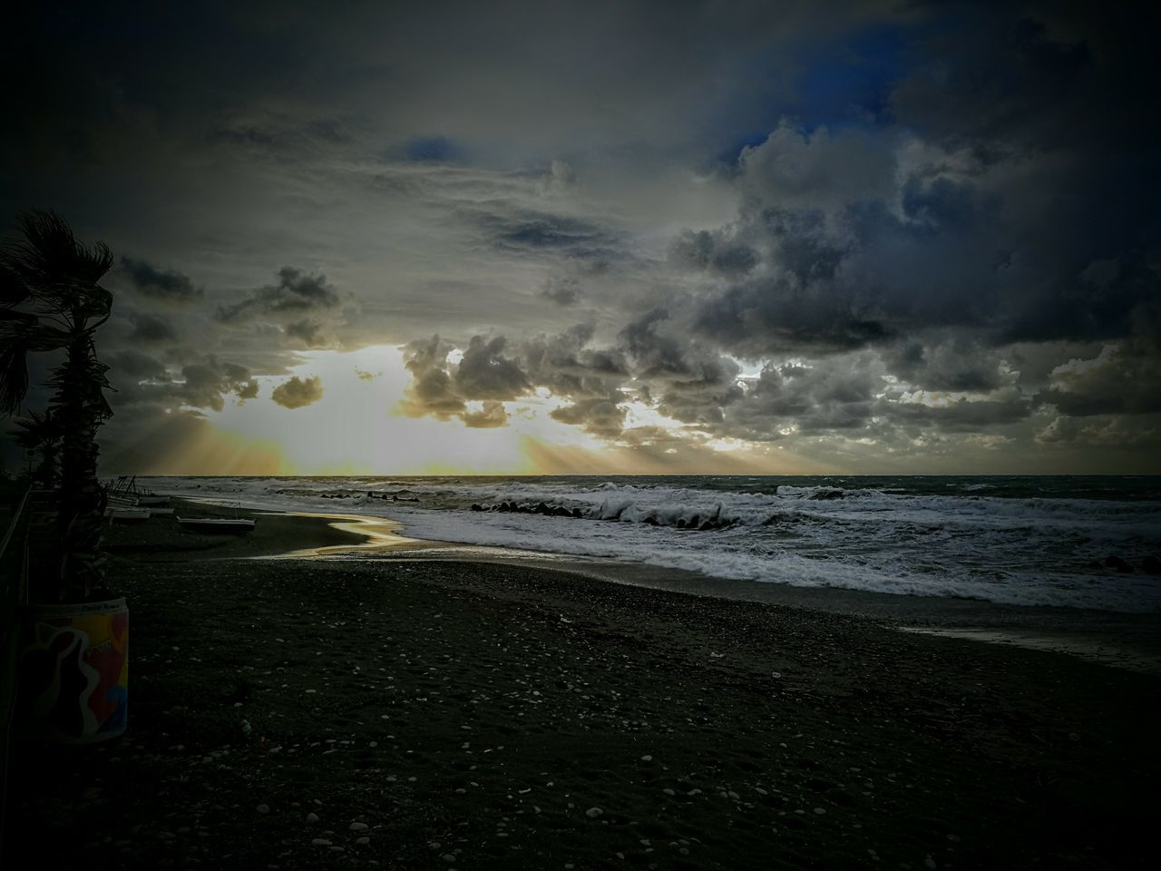sea, beauty in nature, beach, sky, nature, scenics, horizon over water, water, cloud - sky, tranquil scene, tranquility, sunset, no people, outdoors, wave, storm cloud, power in nature, day