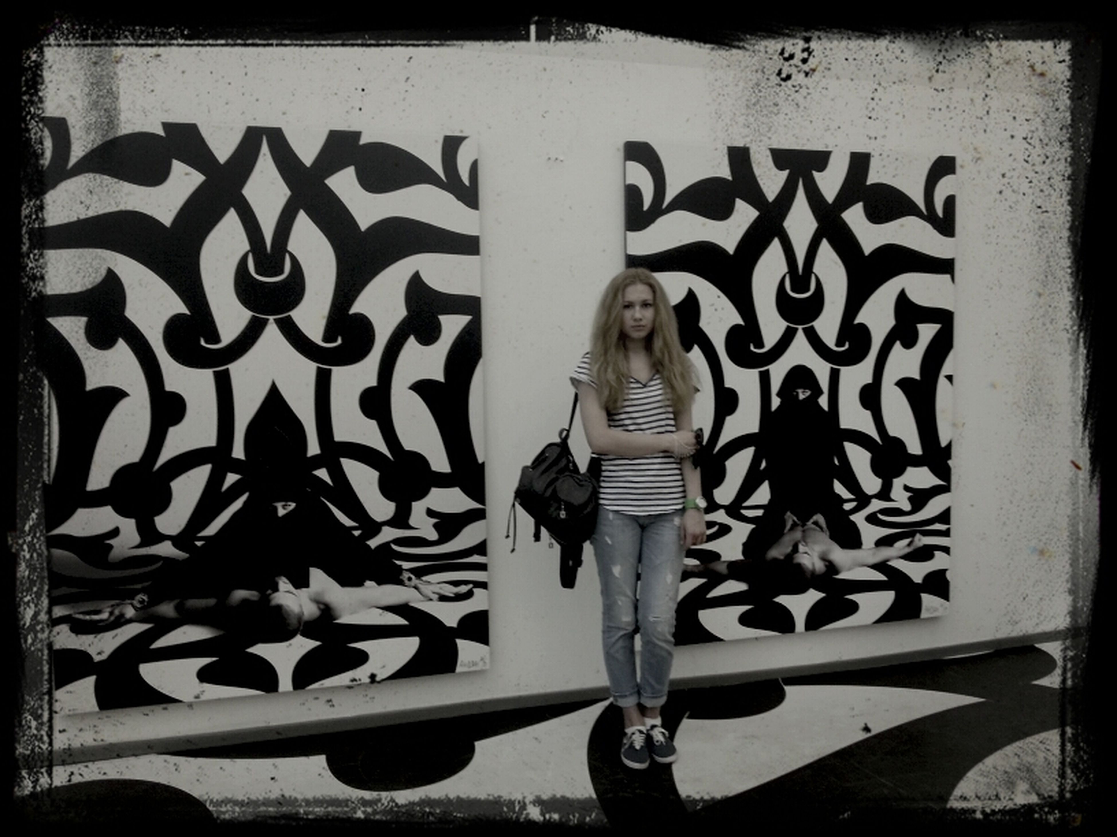 transfer print, art, art and craft, creativity, auto post production filter, wall - building feature, indoors, animal representation, graffiti, wall, human representation, shadow, design, pattern, no people, close-up, day, sunlight, craft