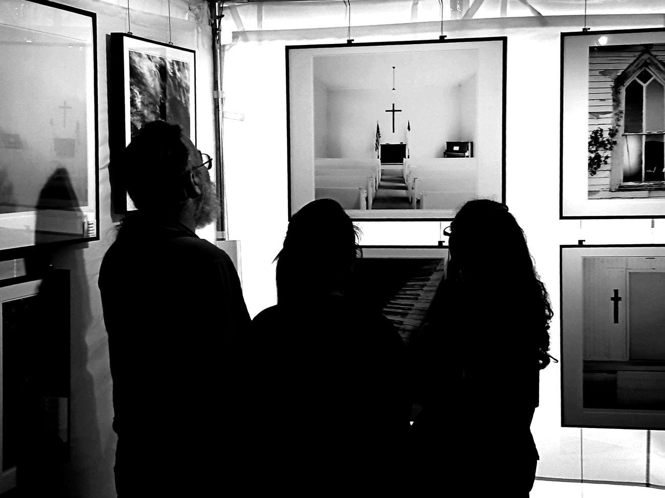 Art Art Fair Black & White Church Comtemplation Praise Rear View Vintage