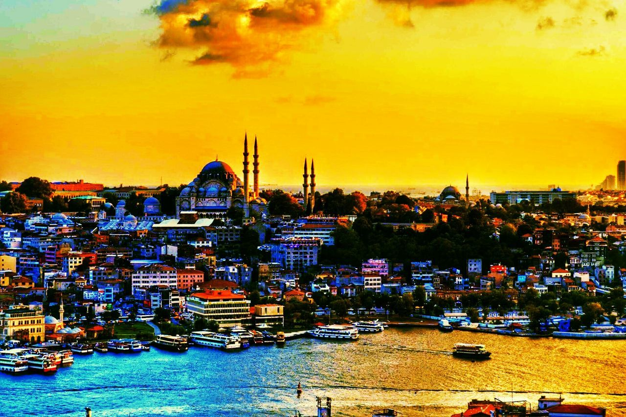 Sunset Cityscape City Horizontal Travel Destinations Outdoors Urban Skyline Water Illuminated Sky Landscape Mosque Istanbul Istanbul Turkey Istanbullovers Travel Traveling Traveler Followme F4f Followme Followforfollow Follow4follow
