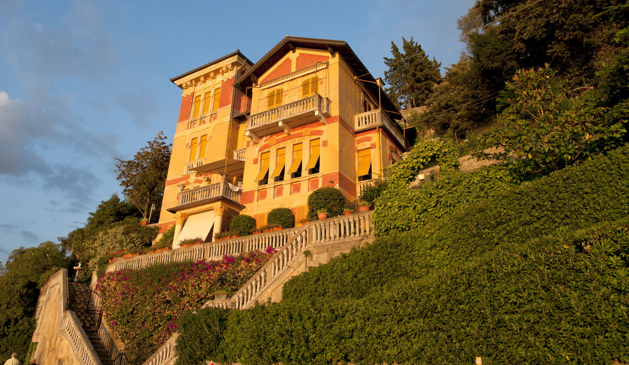 Architecture Beauty Building Exterior Clock Day Famous House Famous Places Grass Italy Liguria Low Angle View Monterosso Al Mare Nature No People Old-fashioned Outdoors Promenade Sky Small Town Small Village Sunset Sunset_collection Tower Tree Vernazza