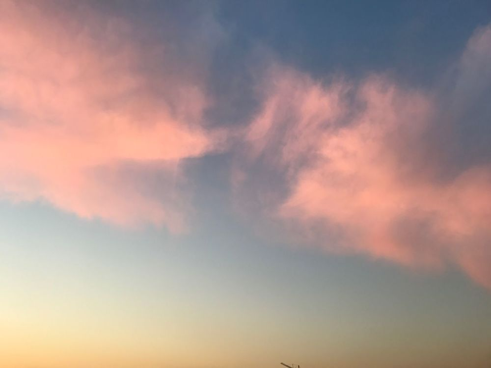 Sky Nature Cloud - Sky Beauty In Nature Tranquility No People Sunset Scenics Low Angle View Outdoors Backgrounds Day Iphone7 Journey IPhone Welcome To Black First Eyeem Photo Pink Han River Han River Bridge Seoul Korea Southkorea