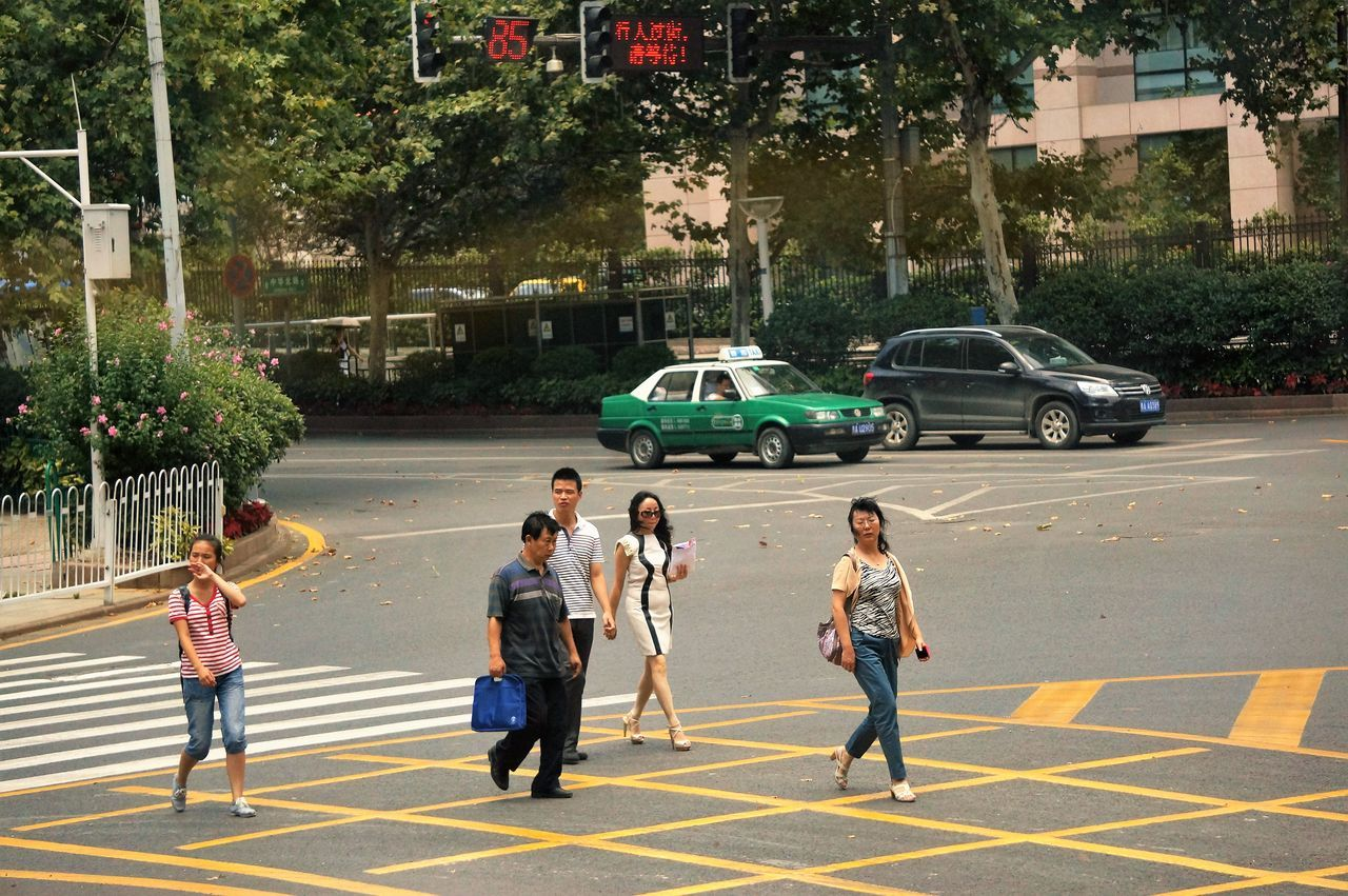Common People Casual Clothing China City City City Life City Street Common Crossing Crossing The Street Guiyang China Journey Lifestyles On Foot On The Move People People Crossing The Road People Watching Road Street Travelling Typical Urban Walking Zebra Crossing