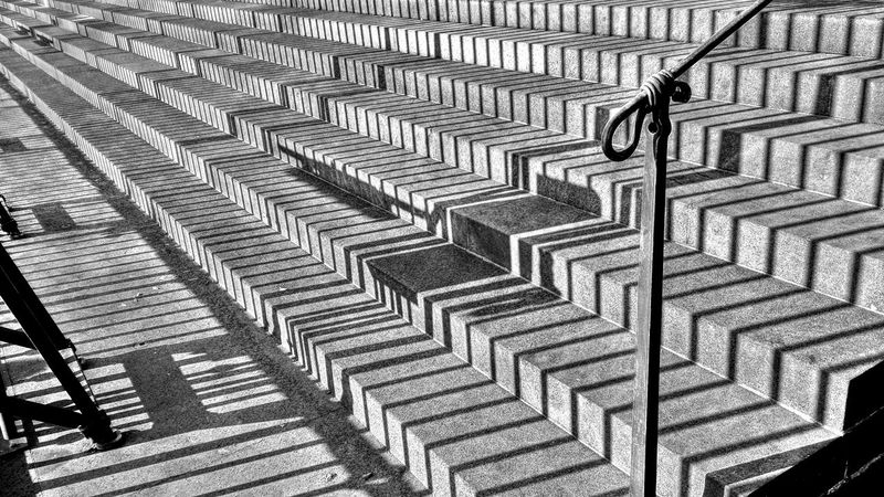 Abstract Lines And Shapes Lines Of Shadows On Steps Outdoors Perspective Perspektivisch Schattenlinien Auf Stufen Schattenspiel  Sonne Steps Stufen Sun And Shadow Surreal