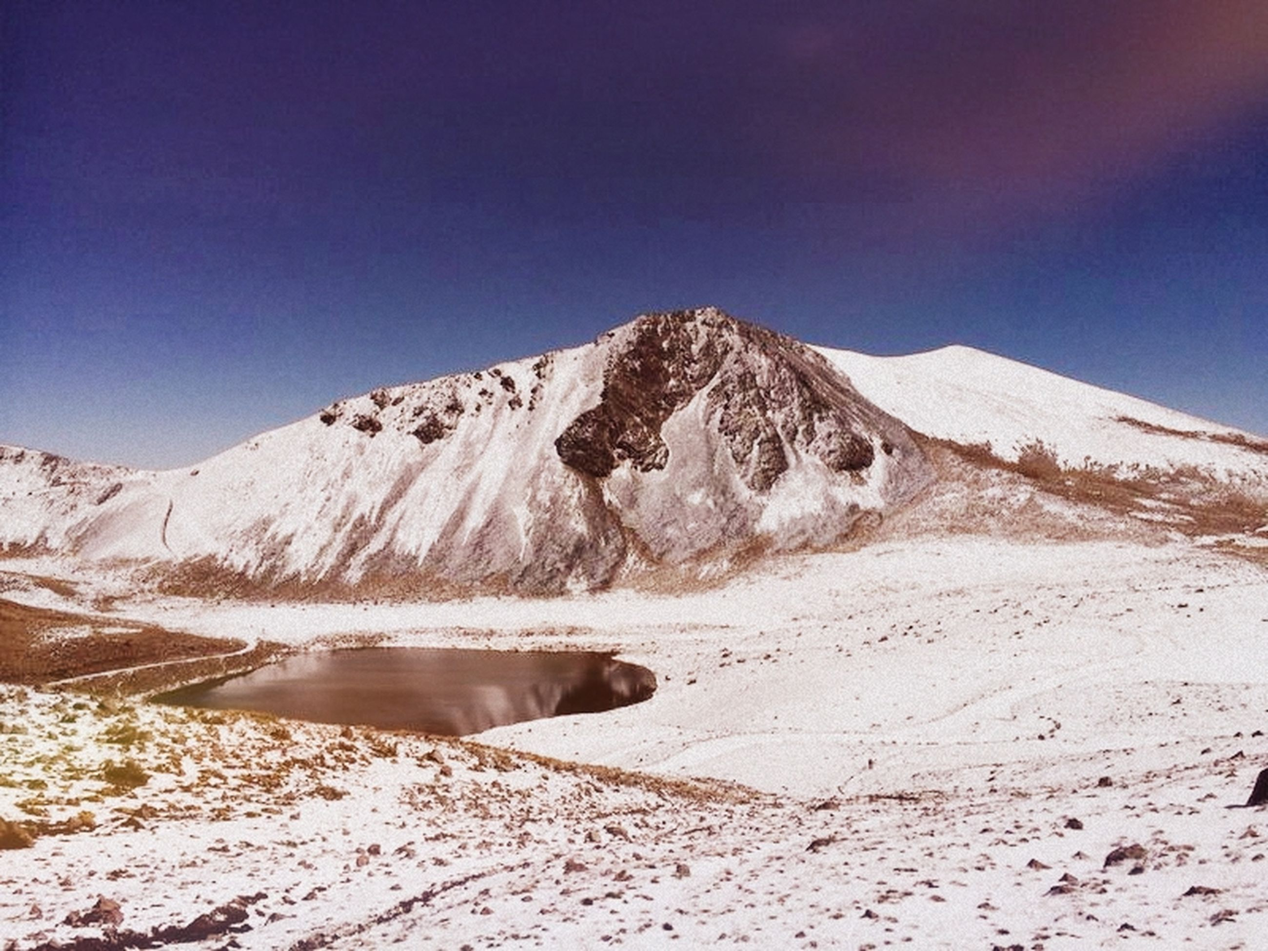 snow, mountain, winter, cold temperature, mountain range, tranquil scene, tranquility, season, snowcapped mountain, scenics, beauty in nature, landscape, nature, weather, sky, non-urban scene, clear sky, blue, physical geography, frozen