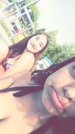 Friend Swimming Pool Summer HotSun
