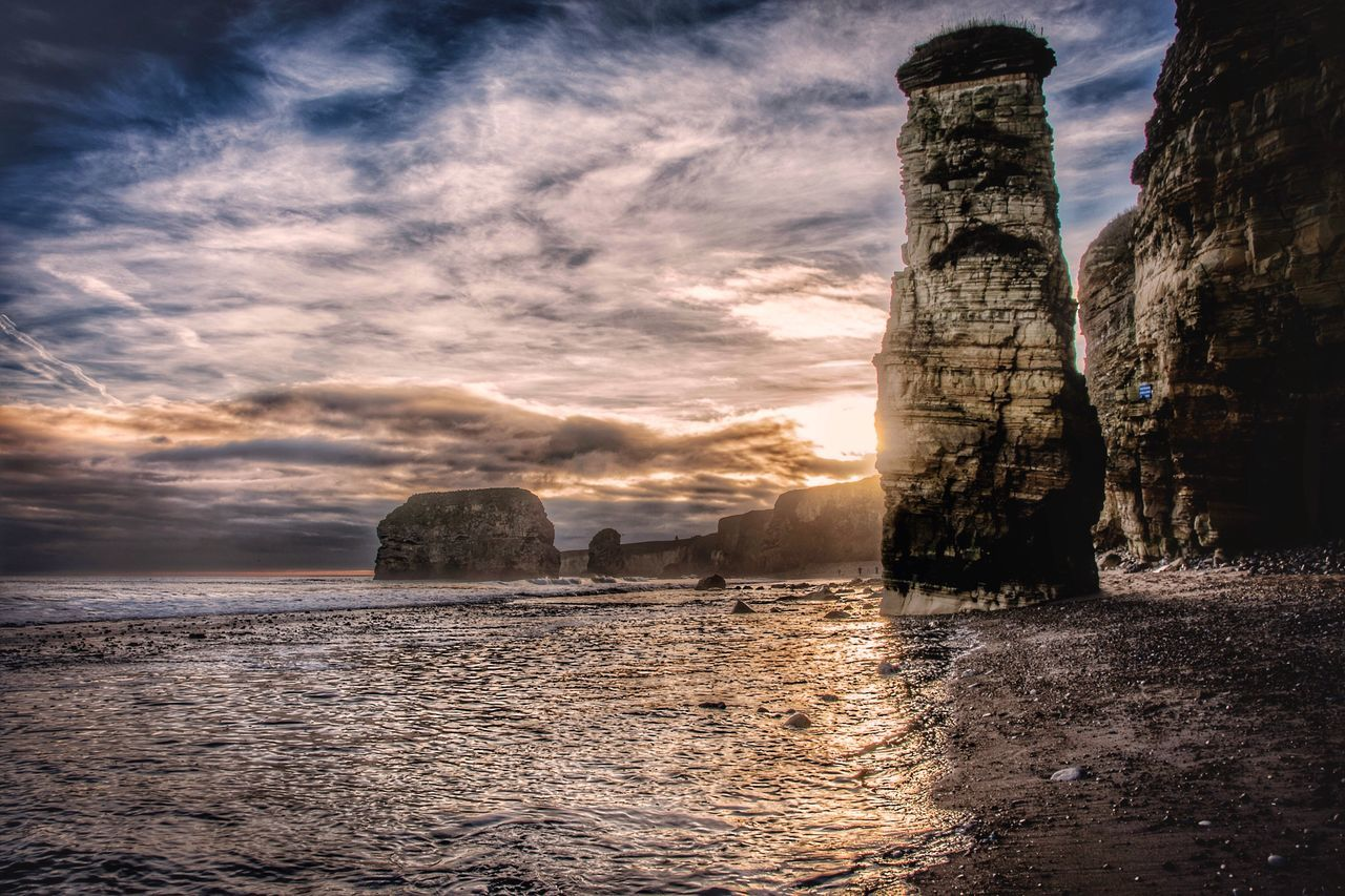 Marsden Rock History Sunset Sea Travel Destinations Water Built Structure Architecture Cloud - Sky Tower Outdoors Sky Building Exterior Scenics Nature No People Beauty In Nature Day Sunderland Nikon TheWeekOnEyeEM Nikonphotography