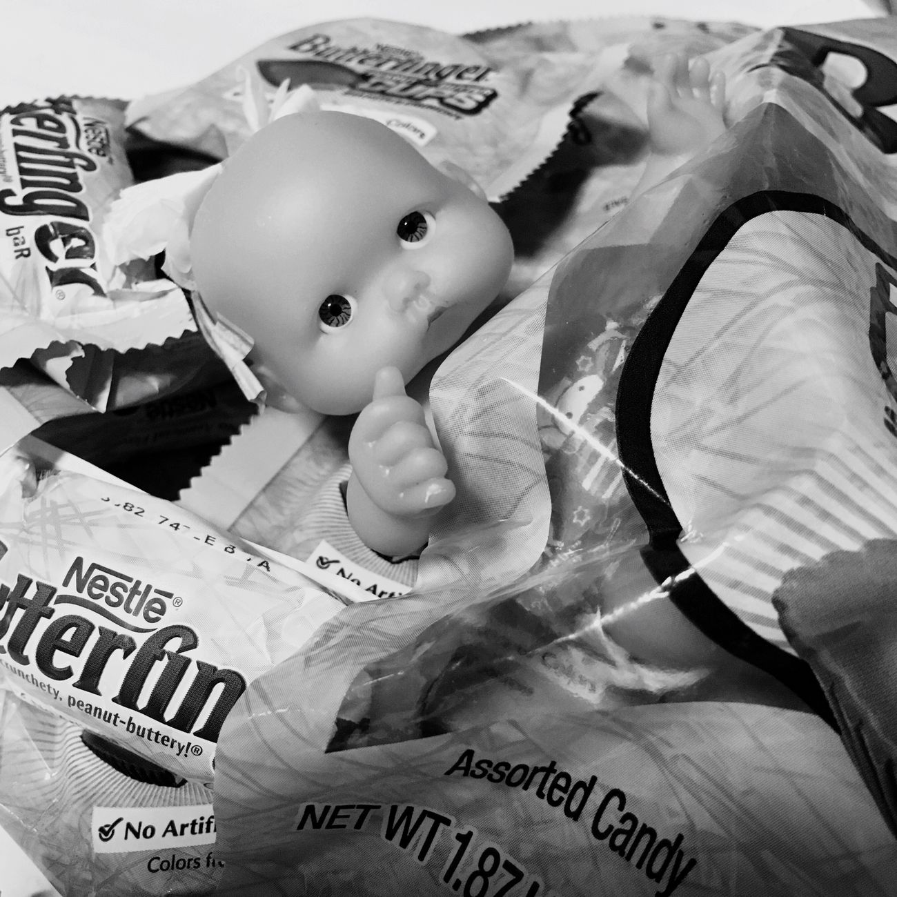Finding New Frontiers Hello World EyeEm Japan Enjoy Life Baby Doll Black And White Photography Doll Butter Finger