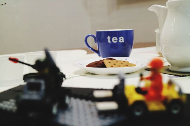 tea time, play time Selective Focus Food And Drink Close-up Focus On Foreground Retail  No People Ready-to-eat Freshness Domestic Life Serving Size Tea Time Tea Cookies