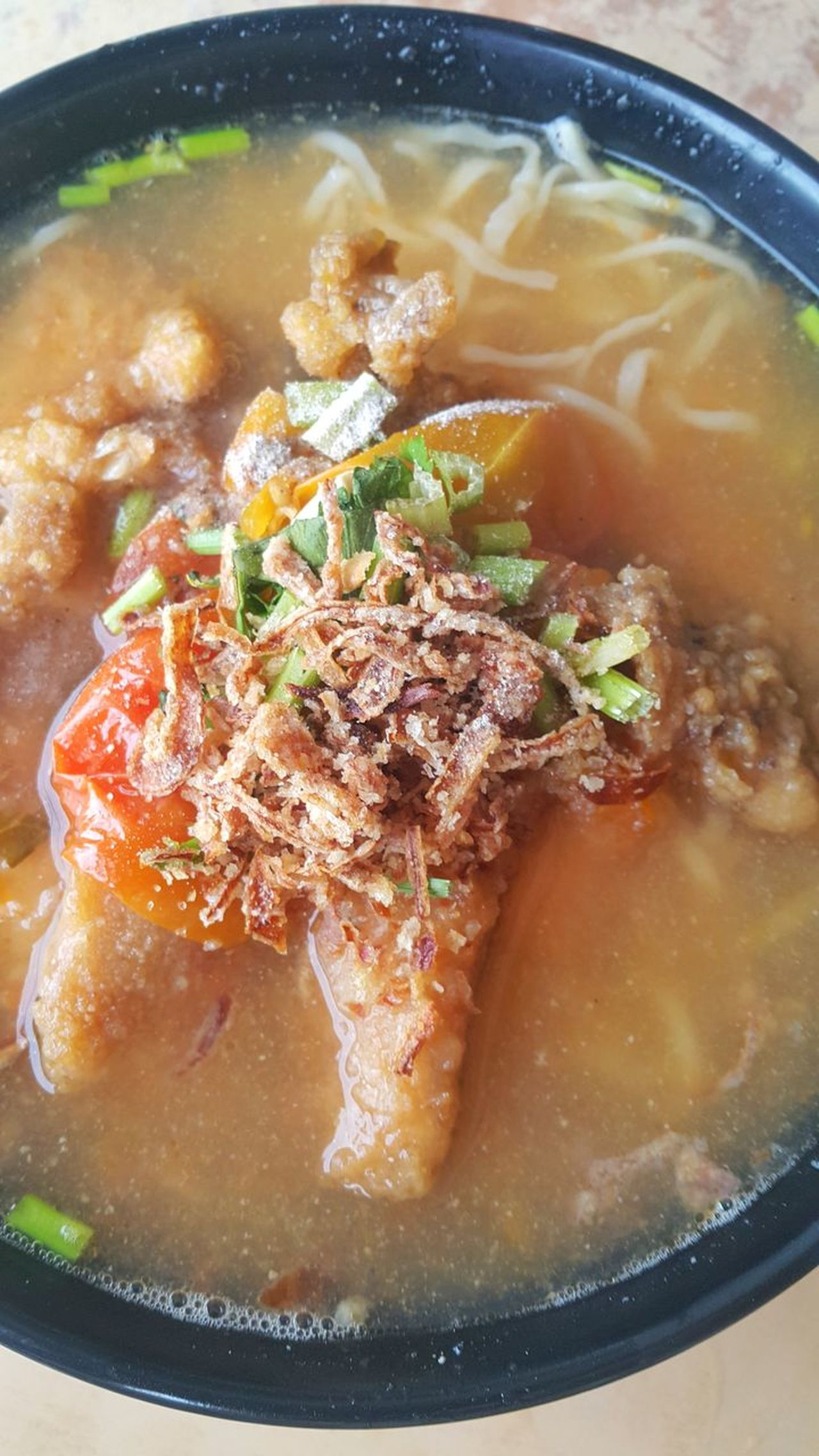 Breakfast mee soup Soup Food Food And Drink Bowl Healthy Eating Meat Savory Food Heat - Temperature No People Indoors  Freshness Beef Ready-to-eat Close-up Pork Vegetable Soup Thick Day