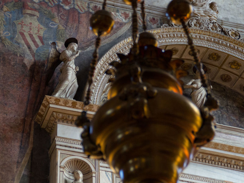 Architecture Built Structure Church Church Of The Brothers Close-up Day Europe History Human Representation Indoors  Italy Lamp Low Angle View No People Place Of Worship Religion Santa Maria Gloriosa Dei Frari Sculpture Spirituality Statue Travel Destinations Venice Venice, Italy