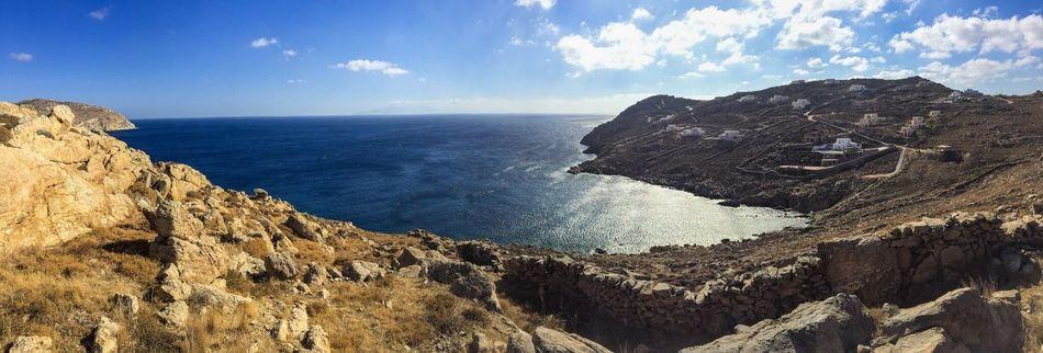 #bluesky Landscape Panaramic Mountains Moutain View Sea And Sky Seascape Tranquility Blue Sky Blue Sea