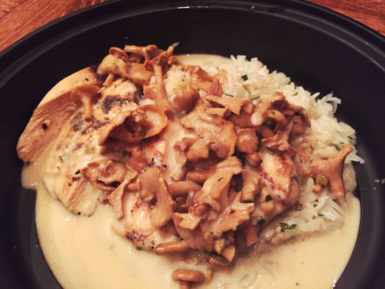 Food Chantrelles Mushrooms Buerre Blanc Grilled Chicken Basmati Rice Basmati Basmatirice Foraged Local Delicious IPhoneography