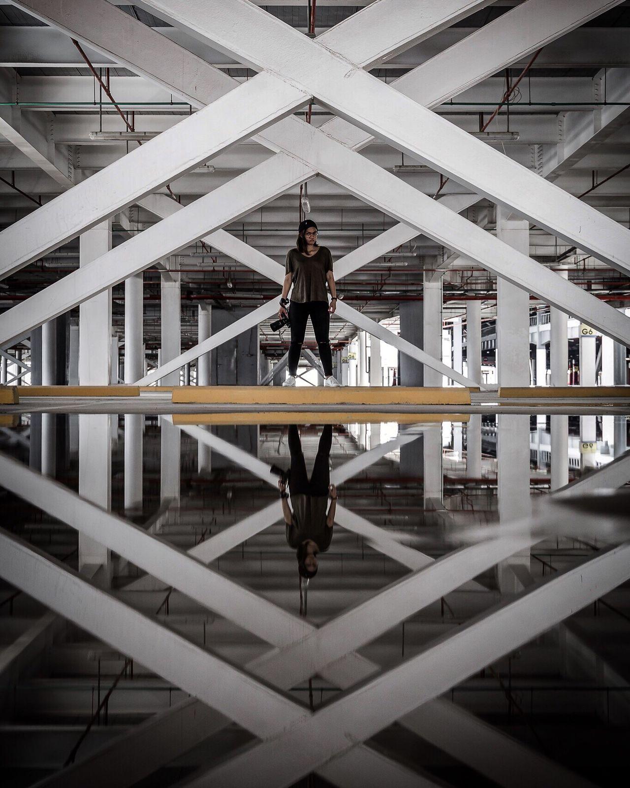 The Secret Spaces Reflection Puddle EyeEm Best Shots Eye4photography  EyeEm Gallery Urbanphotography Exploring Dubai UAE Weekend EyeEm One Person Bestoftheday The Architect - 2017 EyeEm Awards The Great Outdoors - 2017 EyeEm Awards